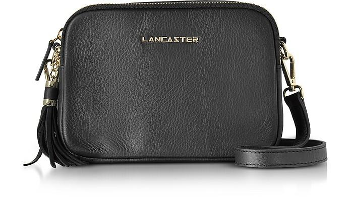 e8e2a9ef8e56ae Lancaster Mademoiselle Ana Grained Leather Crossbody Bag In Black ...