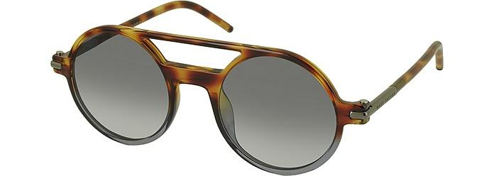 8485687f16 Marc Jacobs Marc 45 S Acetate Round Aviator Women s Sunglasses In Havana   Shaded Black