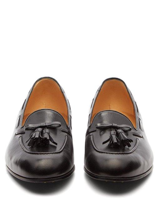 5d046cc8a03 Gucci Loomis Leather Tasselled Loafers - Black