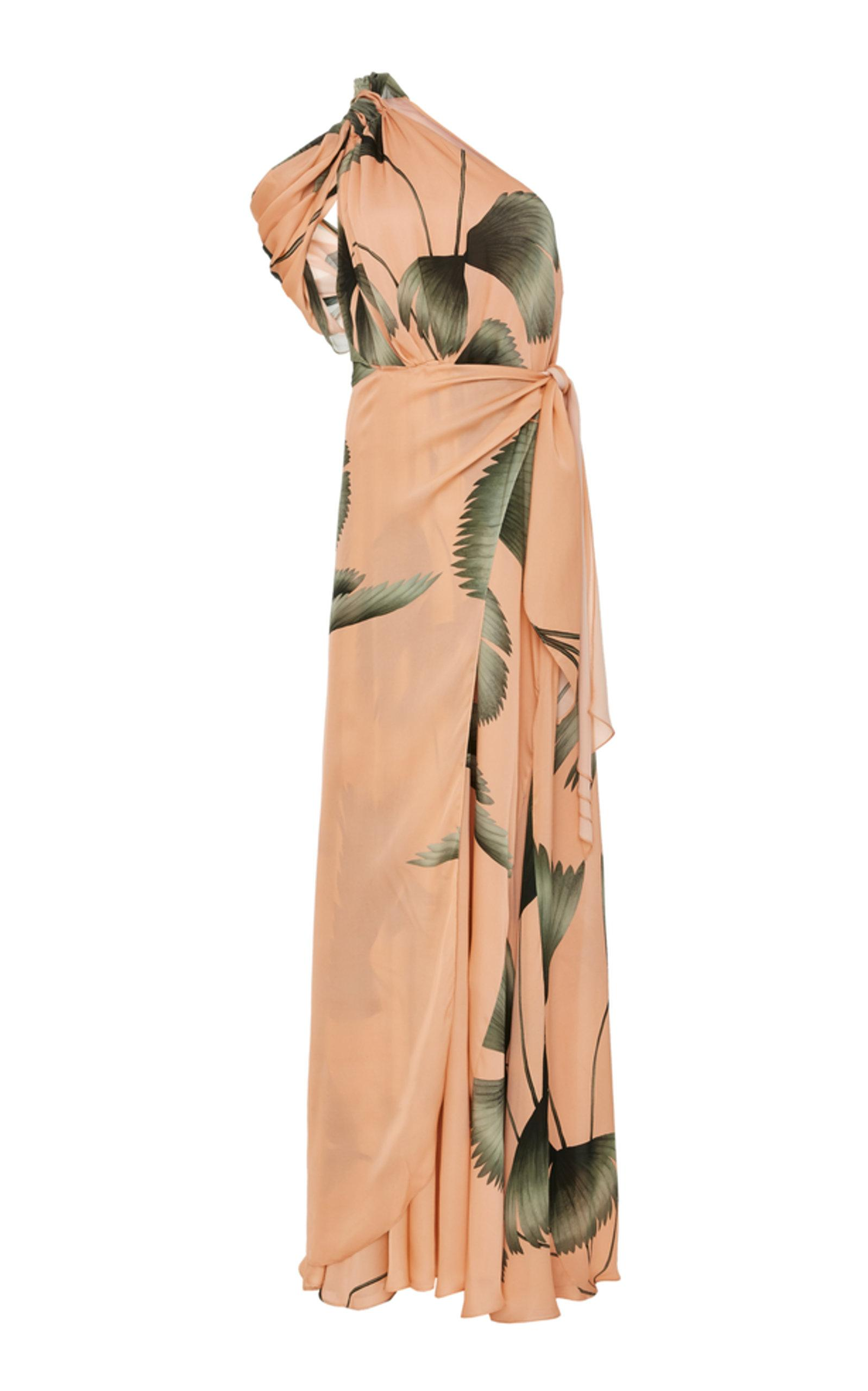 e81a7626818 Johanna Ortiz St Barthelemy Silk Georgette Dress In Print