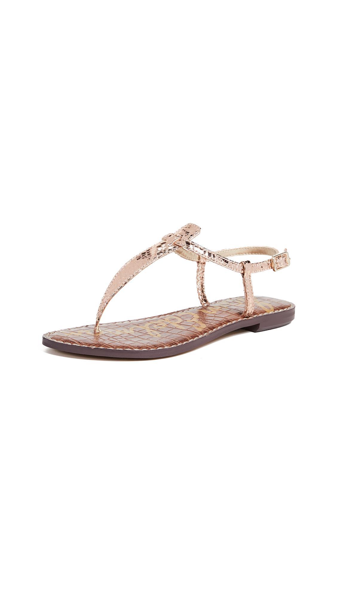 4376d06fe Sam Edelman Gigi Flat Sandals In Rose Gold