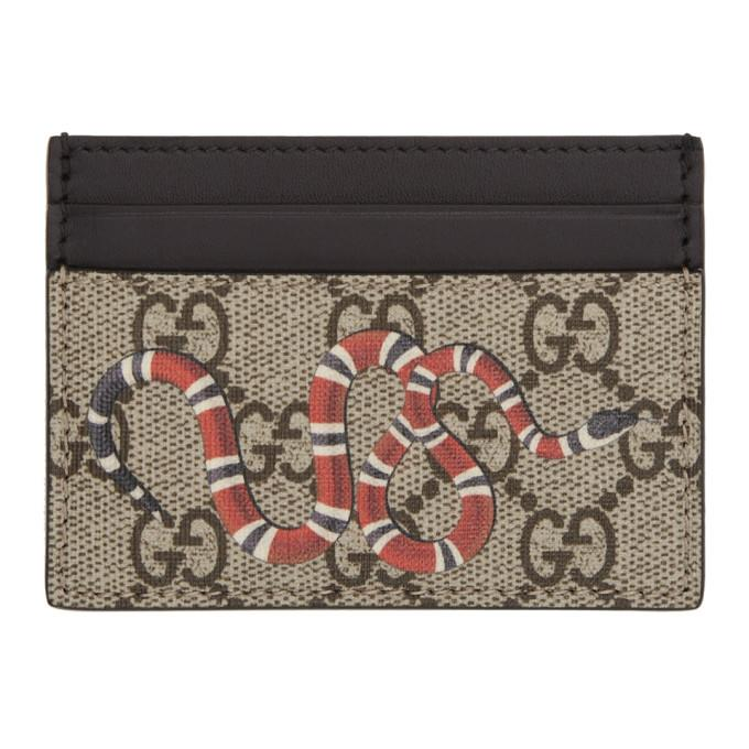 fa49f498c0ac Gucci Beige Snake Gg Supreme Card Holder In 8666 Snake | ModeSens