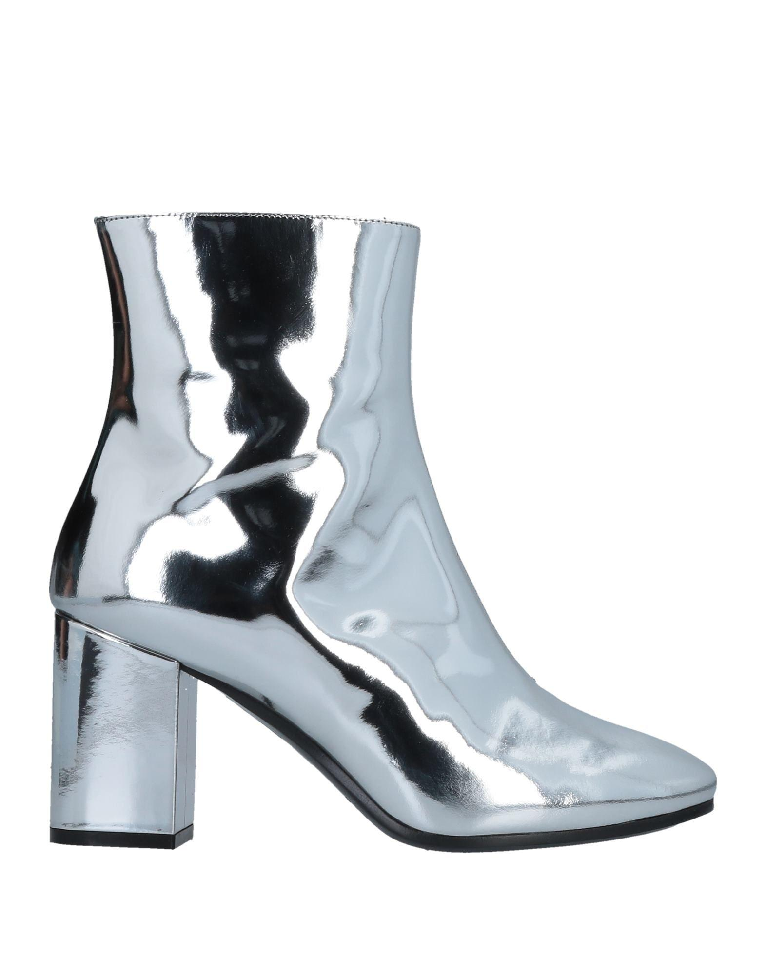 e708e18a537 Silver Ville Patent Leather Heeled Ankle Boots