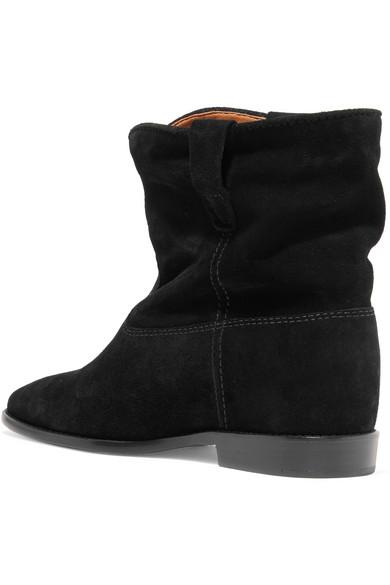 14ae5fce5eb Isabel Marant Women S Suede Ankle Boots Booties Crisi In Black ...