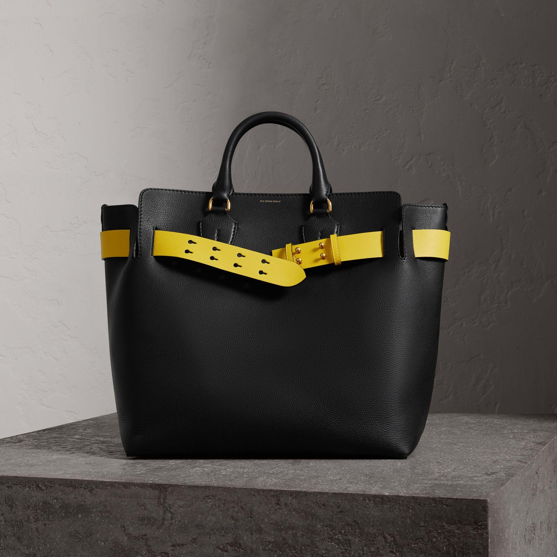 a067479292eb Burberry The Large Leather Belt Bag In Black Yellow