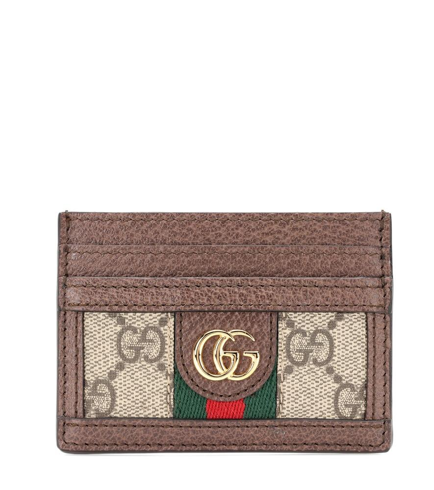 9c8cfb7965f9 Gucci Ophidia Leather Card Holder In Brown | ModeSens