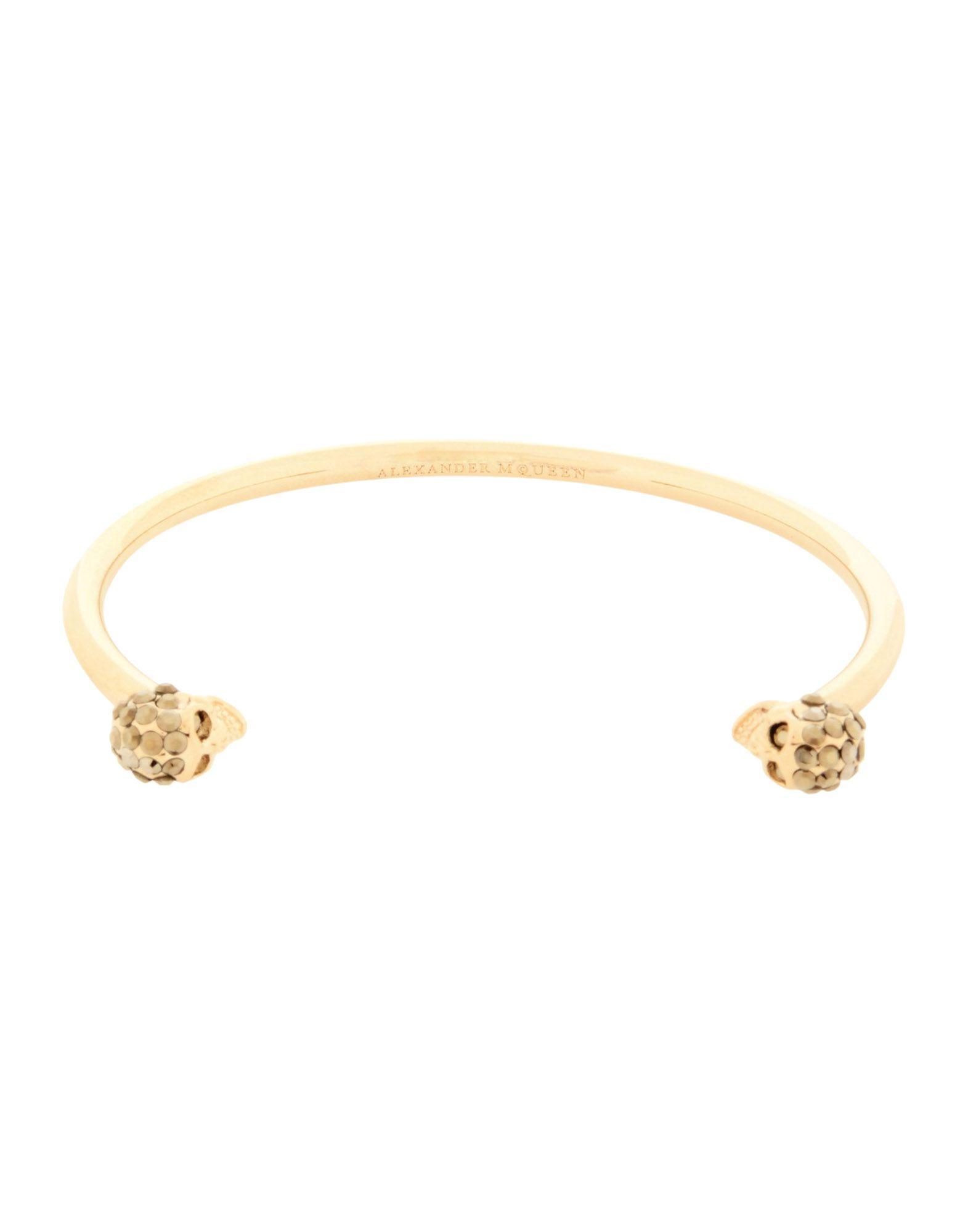 Alexander Mcqueen Bracelet In Gold