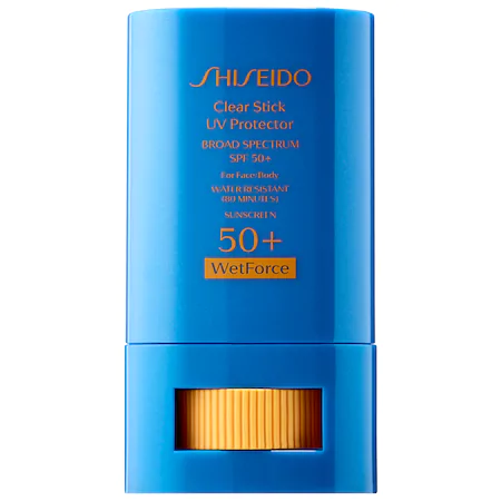 SHISEIDO CLEAR STICK UV PROTECTOR WETFORCE BROAD SPECTRUM SUNSCREEN SPF 50+ 0.52 OZ/ 15 G,2044188