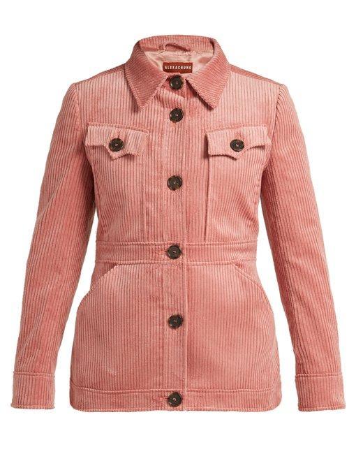 695dbe14eef Alexa Chung Alexachung Patch Pocket Corduroy Jacket Womens