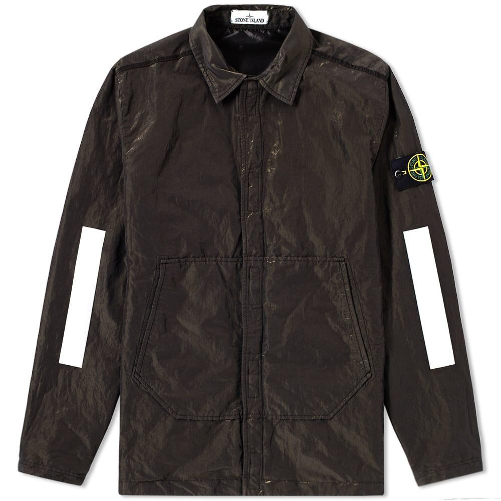 50ca80bd52bd Stone Island Reflective Sleeve Metal Gd Shirt Jacket In Black