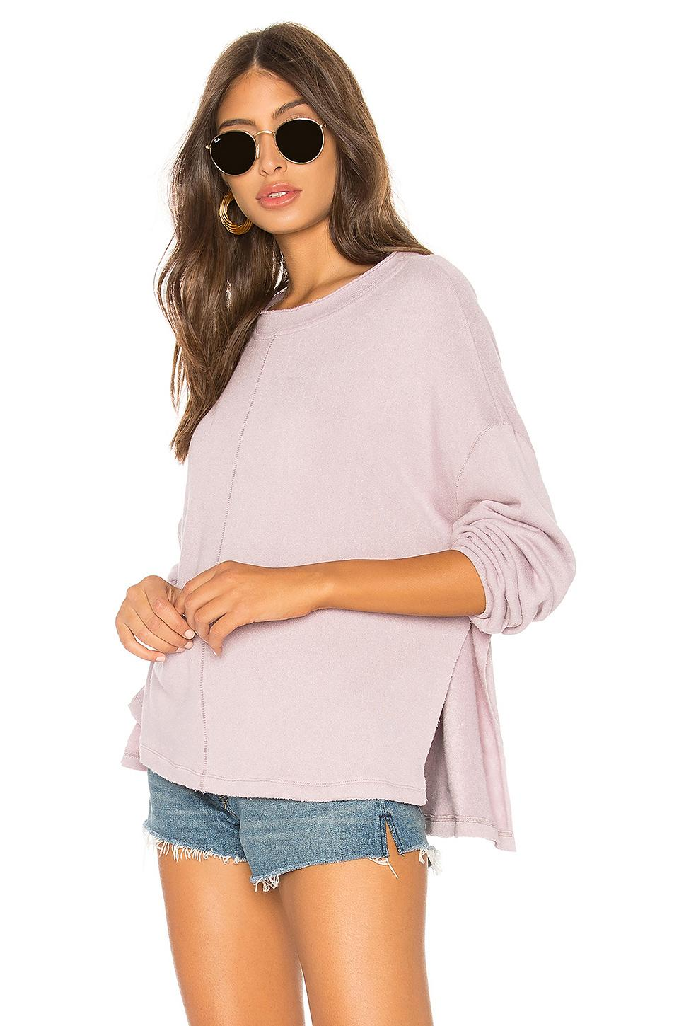 Why Its Good To Pull Over To Side Of >> Free People Be Good Terry Pullover In Lavender Modesens