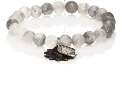 399446a0b4b Miracle Icons Vintage-Icon Beaded Bracelet - Gray   ModeSens