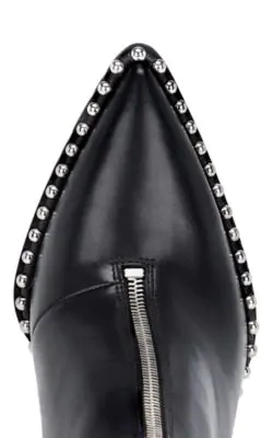 Alexander Wang Eri 115 Black Studded Leather Ankle Boots