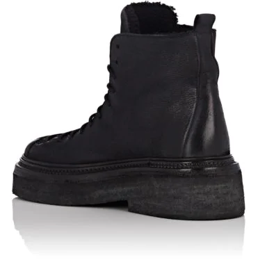 2a2163a388f Shearling-Lined Leather Hiking Boots in Black