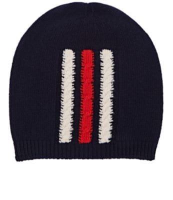 121ccd3f5fa Gucci Striped Wool Beanie In Navy