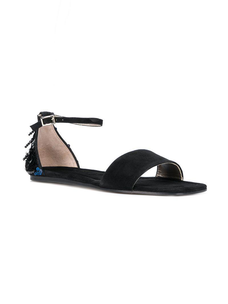 80cfabd8317 Agl Attilio Giusti Leombruni Agl Embellished Ankle Strap Sandals - Black