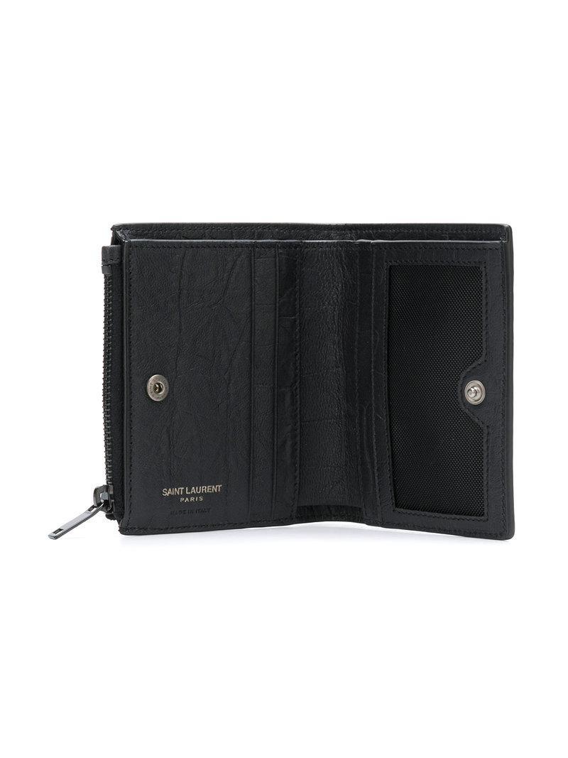 0663ee5fe90d6 Saint Laurent Kleines Portemonnaie - Schwarz In Black