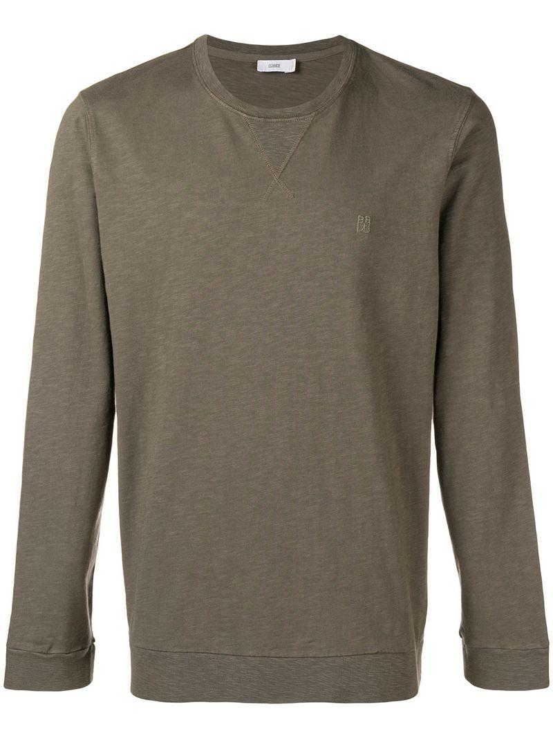 1afcbe9e Closed Olive Green Crew Neck Sweatshirt | ModeSens