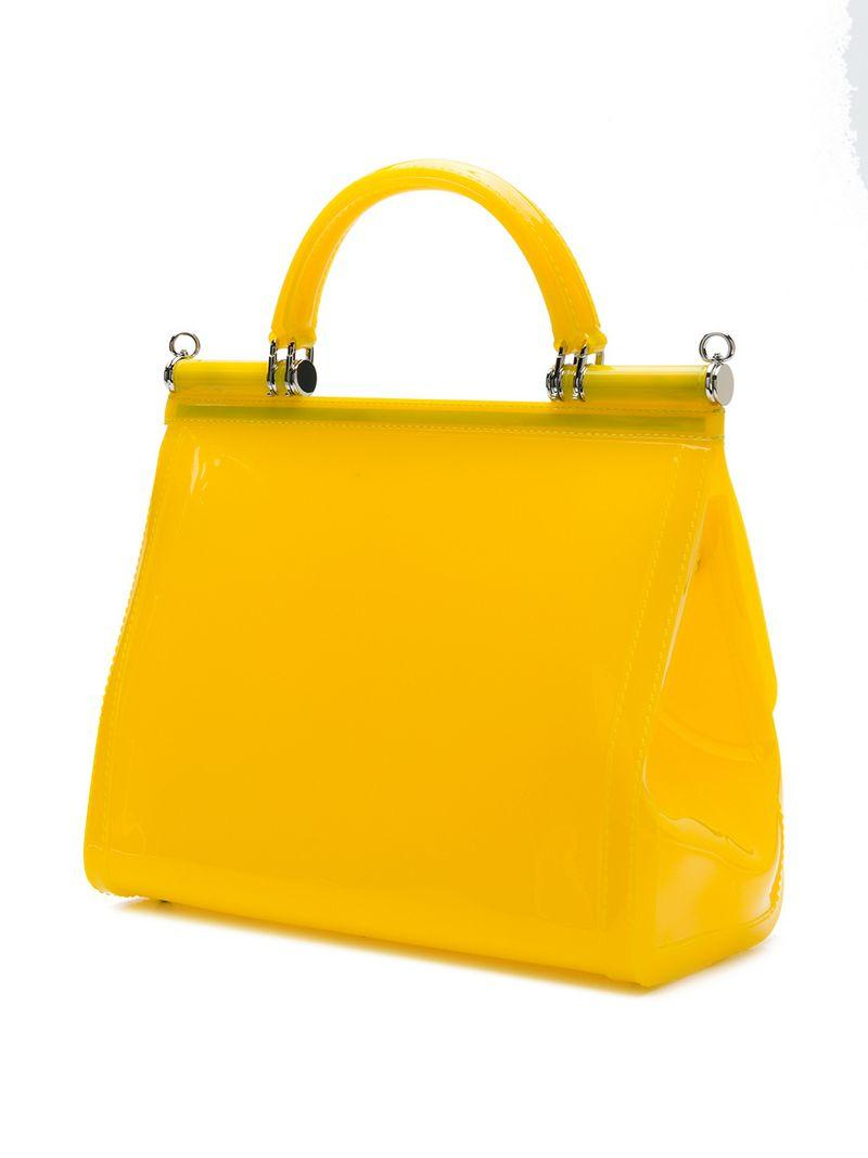 61aa76507bd3 Dolce   Gabbana Dolce And Gabbana Yellow Small Rubber Miss Sicily ...