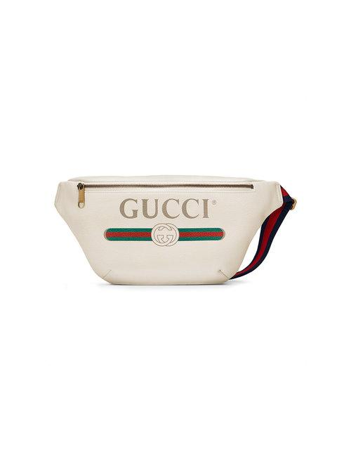 d37b624e4 Gucci White Print Leather Belt Bag - Farfetch In 8822 White   ModeSens