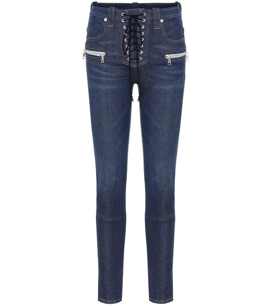 57324ad1e34 Ben Taverniti Unravel Project Lace-Up Skinny Jeans In Blue | ModeSens