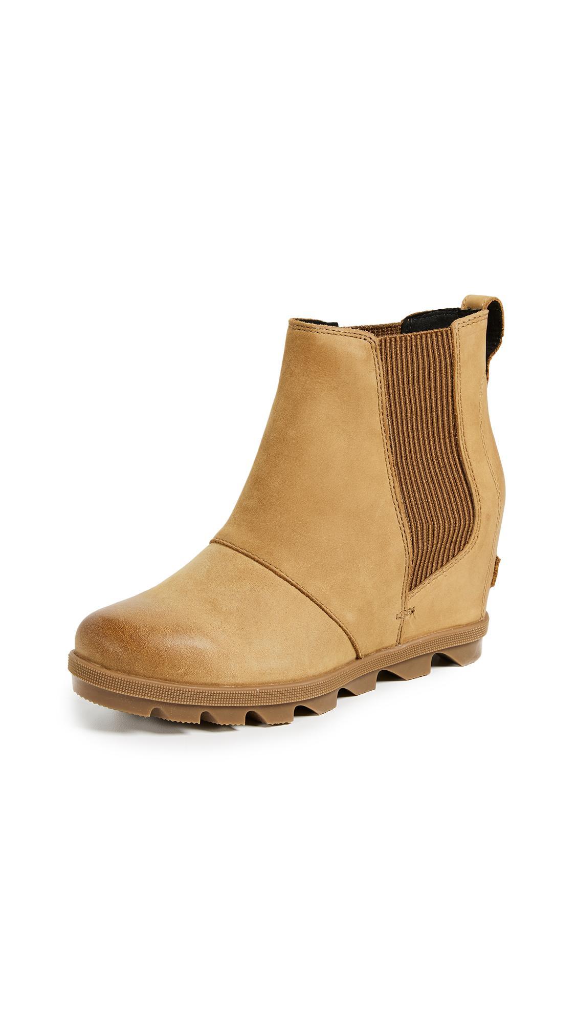 03c61506309c Sorel Joan Of Arctic Wedge Ii Chelsea Boots In Camel Brown