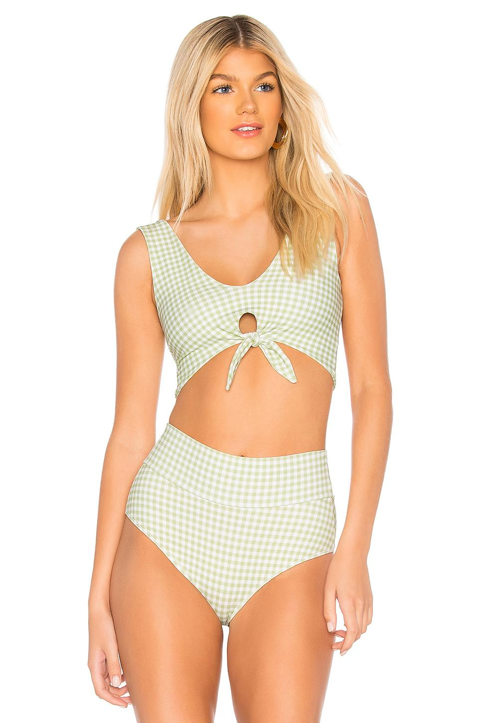 7fdfab26075 Montce Swim Kim Top In Vert Gingham | ModeSens