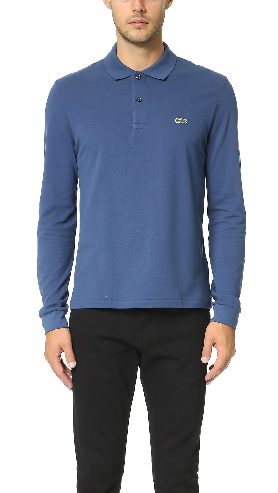 b2011563 Long Sleeve Classic Pique Polo in Anchor Chine