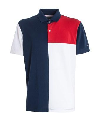 white and blue tommy hilfiger shirt