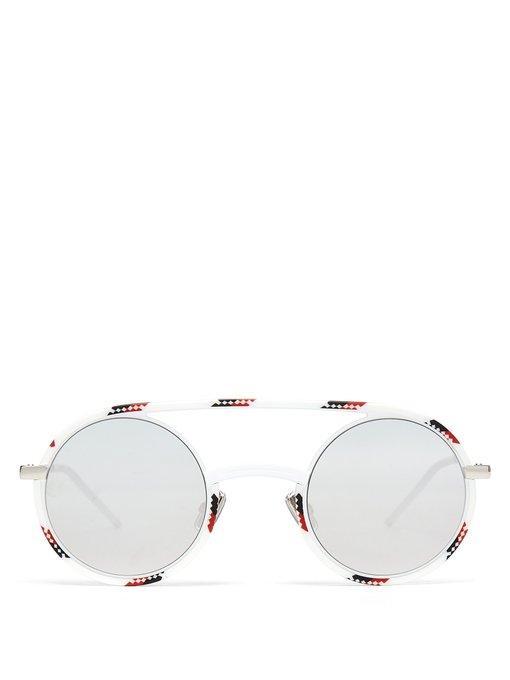 3b1736f53e5e9 Dior Homme Diorsynthesis Round Acetate Sunglasses In White