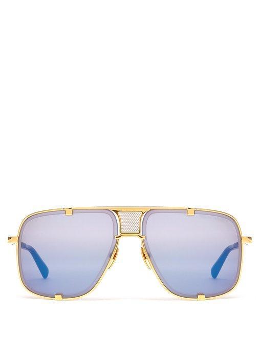 c1ceb809c954 Dita Eyewear Mach-Five Metal Sunglasses In Blue And Gold