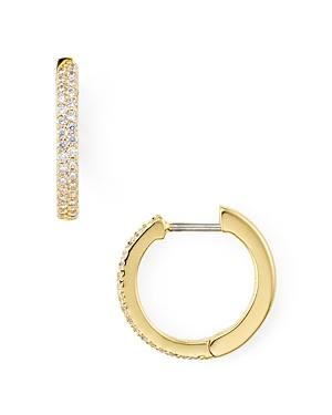 f5e5f685f Kate Spade New York Pave Huggie Hoop Earrings In Clear/Gold | ModeSens