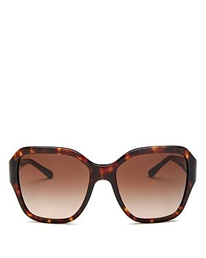 0911d12f837f Tory Burch Reva 56Mm Square Sunglasses - Dark Tortoise Gradient In Dark  Tort / Dark Brown