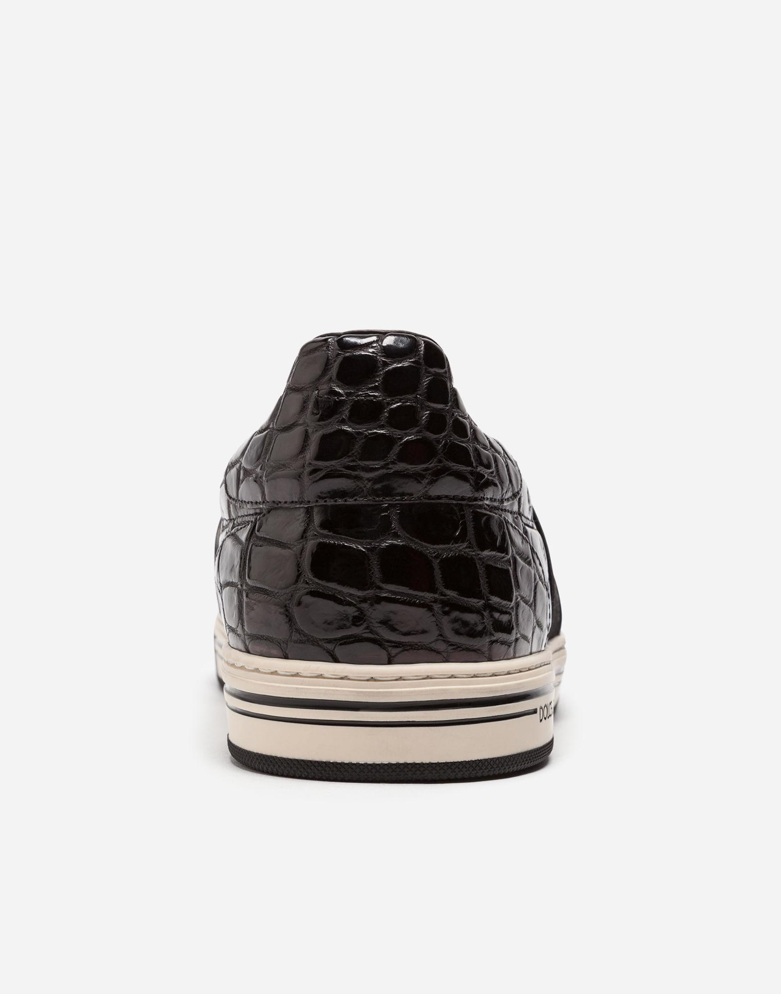3ba18da908 Rome Slip-On Sneakers In Crocodile Leather in Black