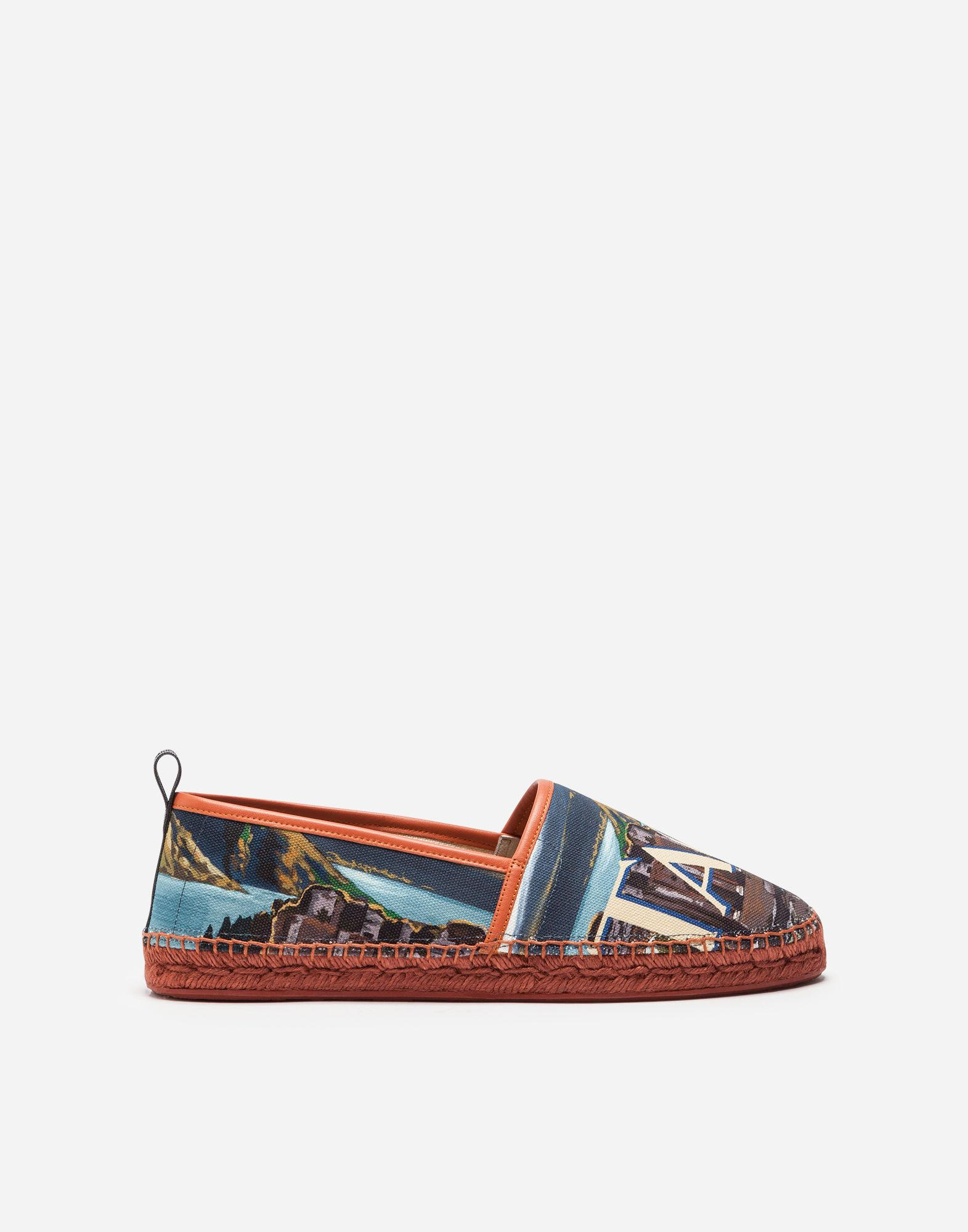 f4207a3ad Dolce & Gabbana Canvas And Calfskin Espadrilles In Multi-Colored ...
