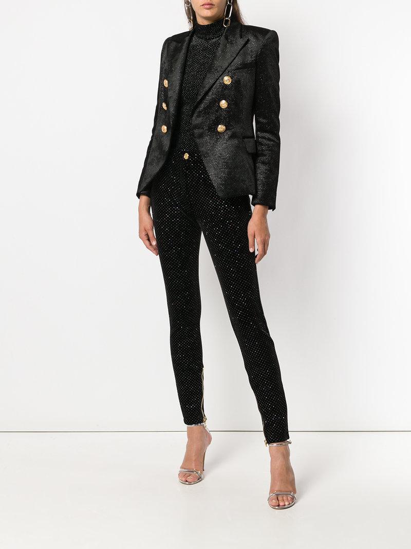 3b518828 Balmain Glitter Embellished Blazer In Black | ModeSens