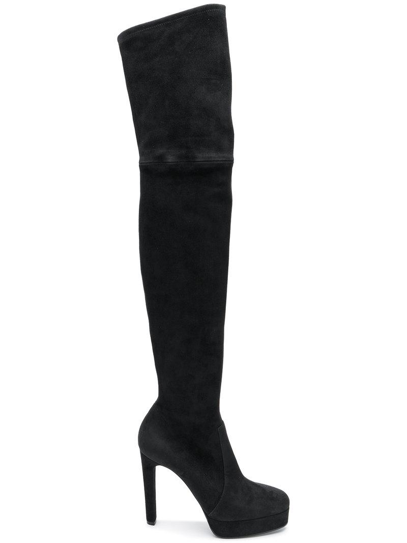 066e78633755 Casadei Over-The-Knee Platform Boots - Black | ModeSens