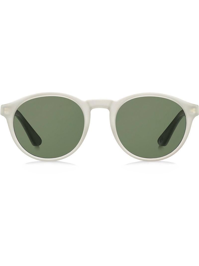 c30088cb7b38 Tommy Hilfiger Matte Round Sunglasses - White