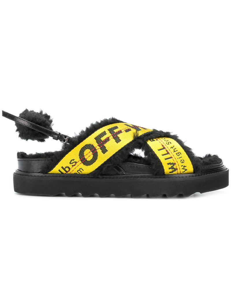 bbcf50f056d2 Off-White Off White C O Virgil Abloh Women s Yellow Industrial Belt Sandals  In