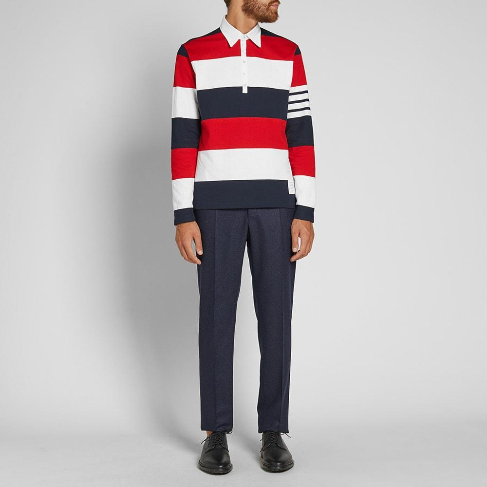 3affb3b27588 Thom Browne Men s Relaxed-Fit Rugby-Striped Long-Sleeve Polo Shirt ...