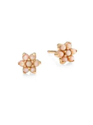 472f355c5 Ginette Ny Fallen Sky Pink Mother-Of-Pearl Star Stud Earrings In Rose Gold