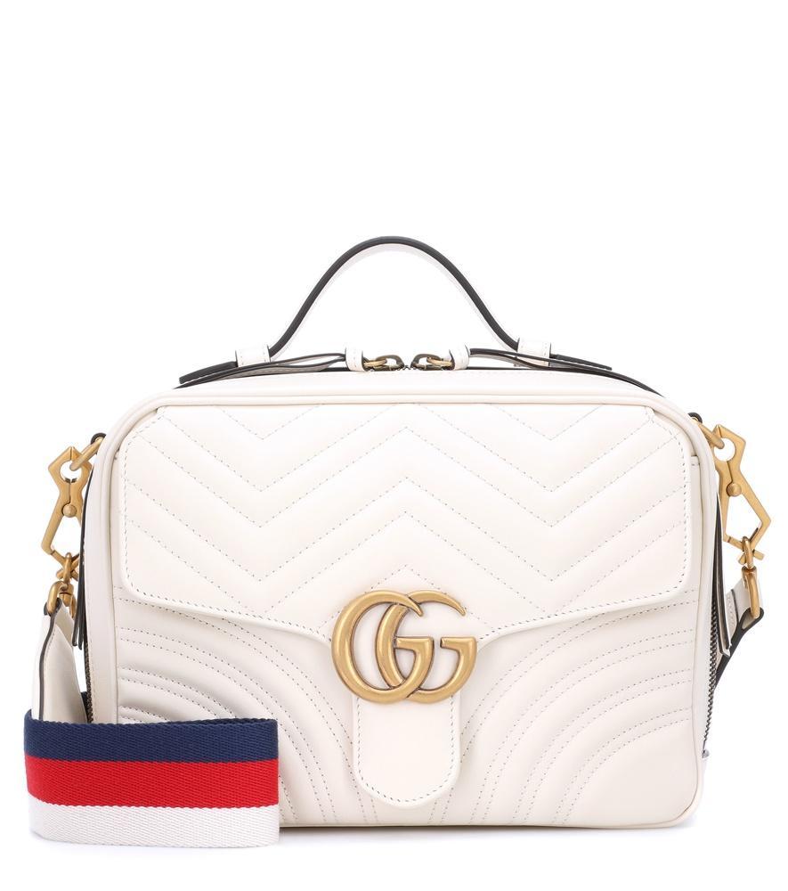 ca95b2e3d88 Gucci Gg Marmont Small Shoulder Bag In White