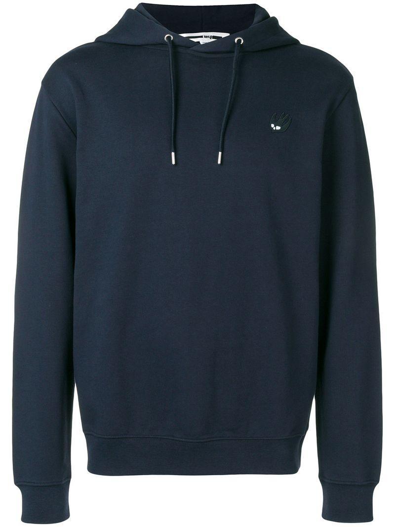 mcq by alexander mcqueen mcq alexander mcqueen swallow logo hoodie blue modesens modesens