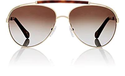 b363585a594 ChloÉ Women s Jackie Brow Bar Aviator Sunglasses