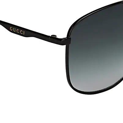 36e0e27a08 Gucci 80S Monocolor 60Mm Aviator Sunglasses - Black