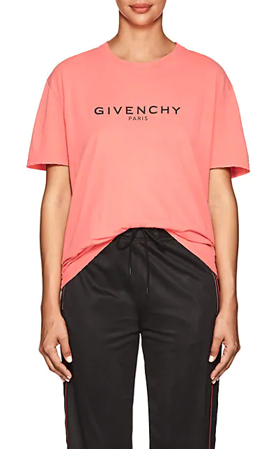a54374fe2 Givenchy Logo Printed Cotton T-Shirt In Pink | ModeSens