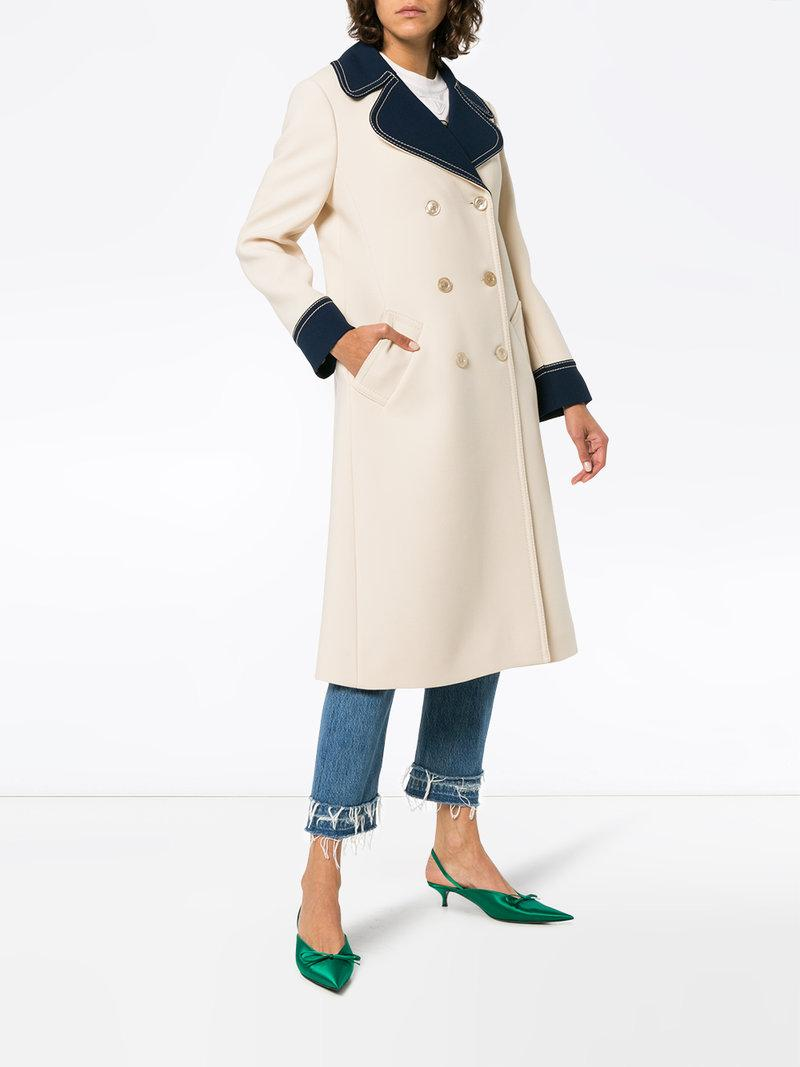 f8fa21ab6e87 Gucci Double-Breasted Wool Coat In Neutrals | ModeSens