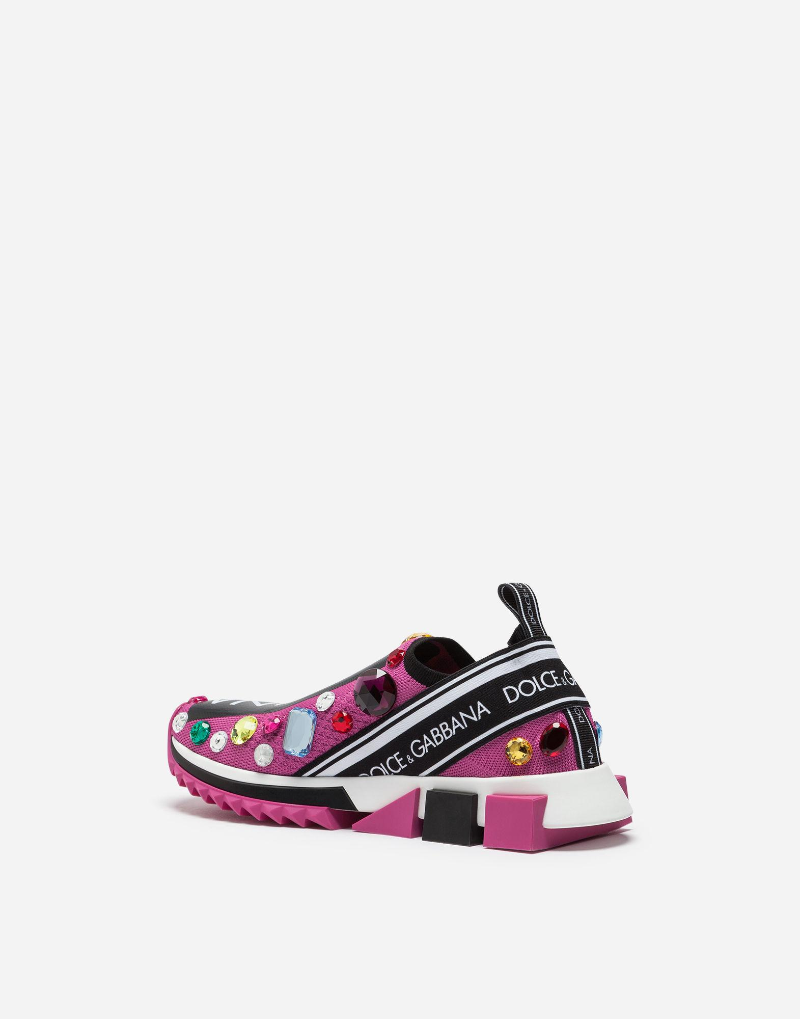 3fb928afcef Dolce & Gabbana Sorrento Sneakers With Embroidery In Pink | ModeSens