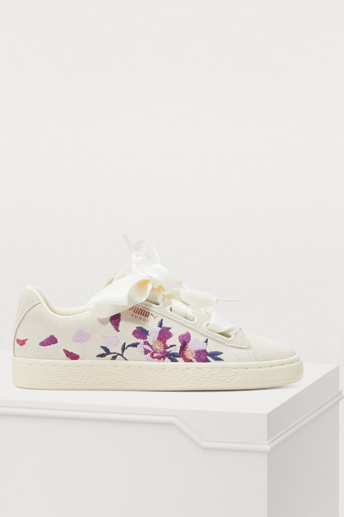 Puma Heart Flower Sneakers In White | ModeSens