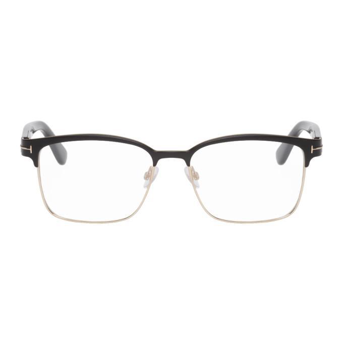 fc991b7fa159 Tom Ford Shiny Metal Square Eyeglasses
